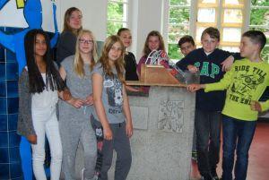 Die Schülerinnen und Schüler der Arbeitsgruppe Walzenwehr
