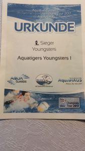 2. Platz beim Wettbewerb Aquaball