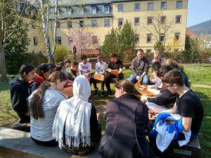 Die Klasse 7g zur Kompetenzschulung in Miltenberg