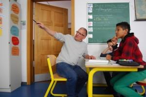 In der Studierzeit werden offene Fragen geklärt.