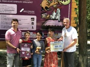 Spendenübergabe an den Schweinfurter Wildpark